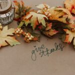 """Thanksgiving decor with saying """"Give Thanks"""""""