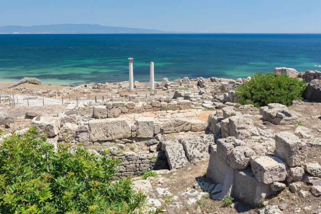 Tharros archaeological site in Sardinia.