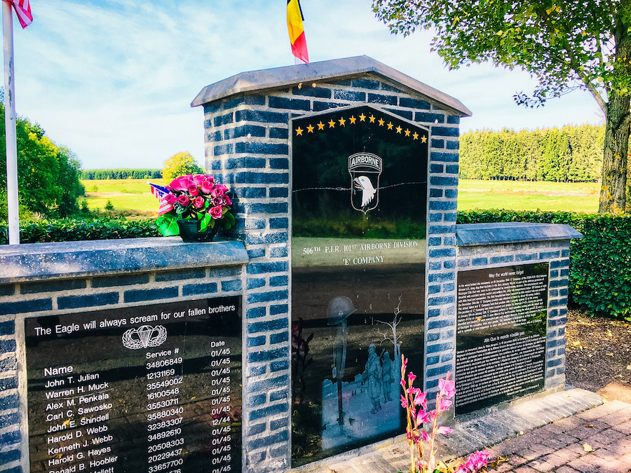 The 101st Airborne Memorial in Belgium.