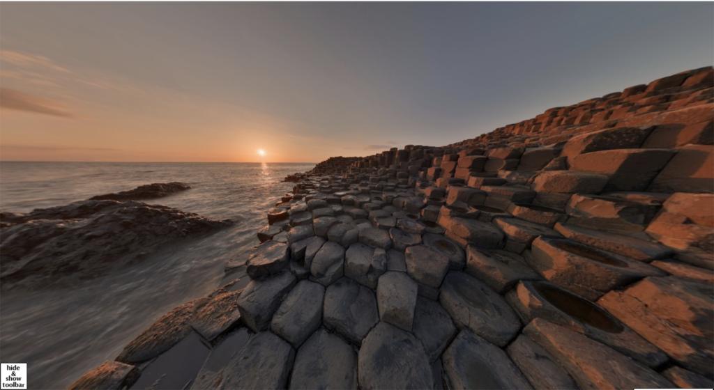 The 360 virtual tour of Giant's Causeway.