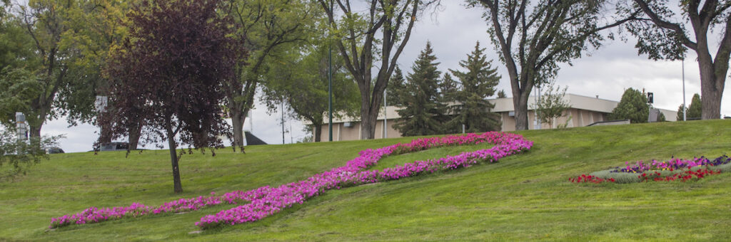 The 9/11 memorial rose garden at Henderson Lake Park.