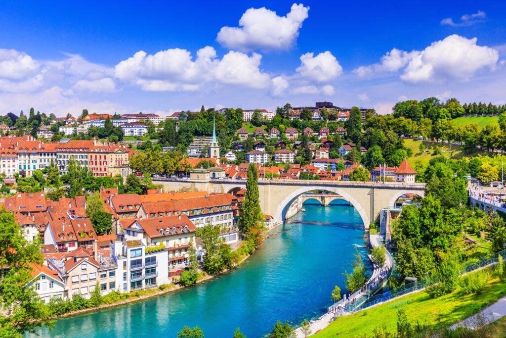 The Aare River in Bern.