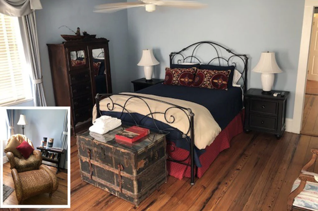 The Aaron Burr bedroom with reading lounge.