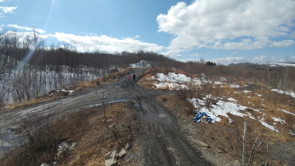 The abandoned town of Centralia, Pennsylvania.