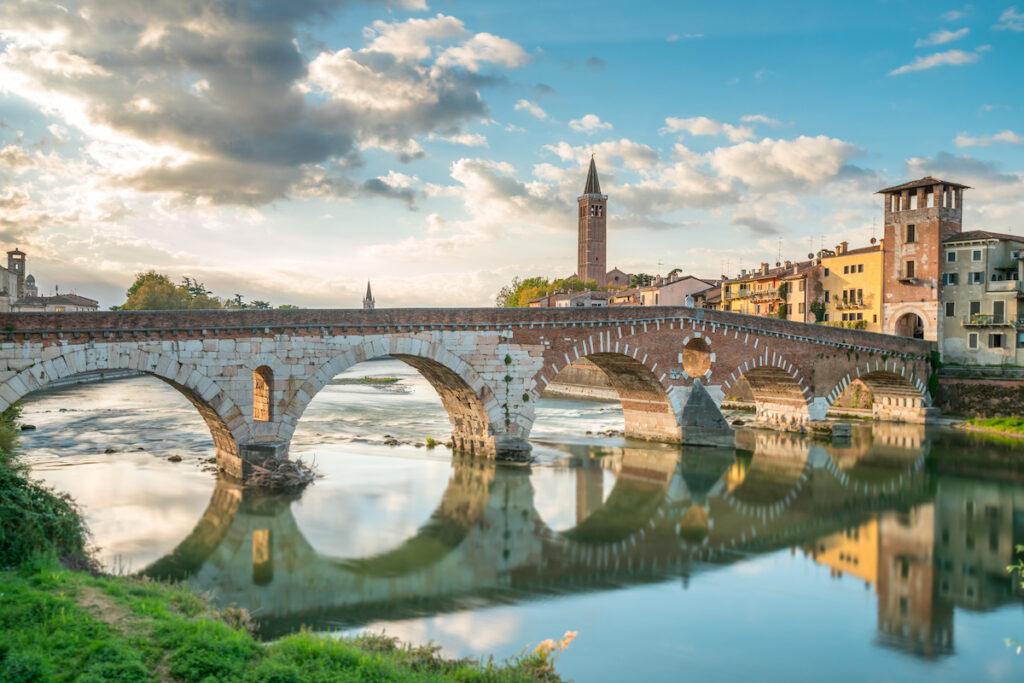 The Adige in Verona, Italy.