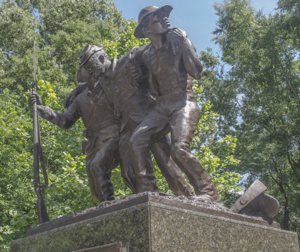 The African-American Monument in Vicksburg.
