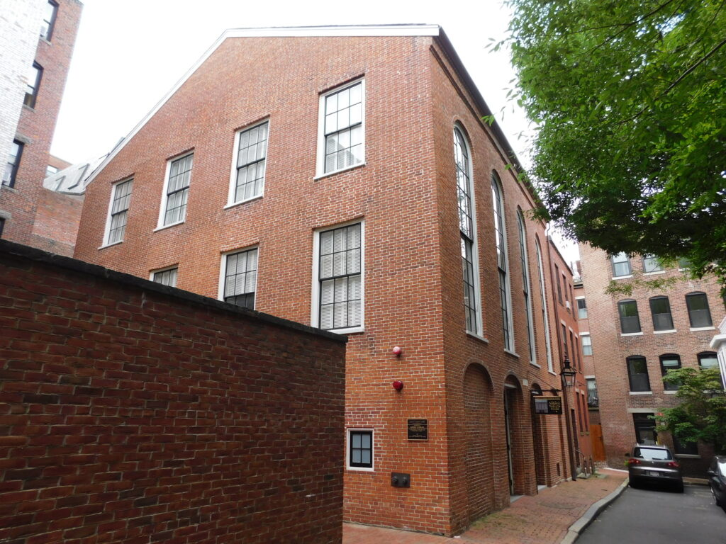 The African Meeting House on Beacon Hill.