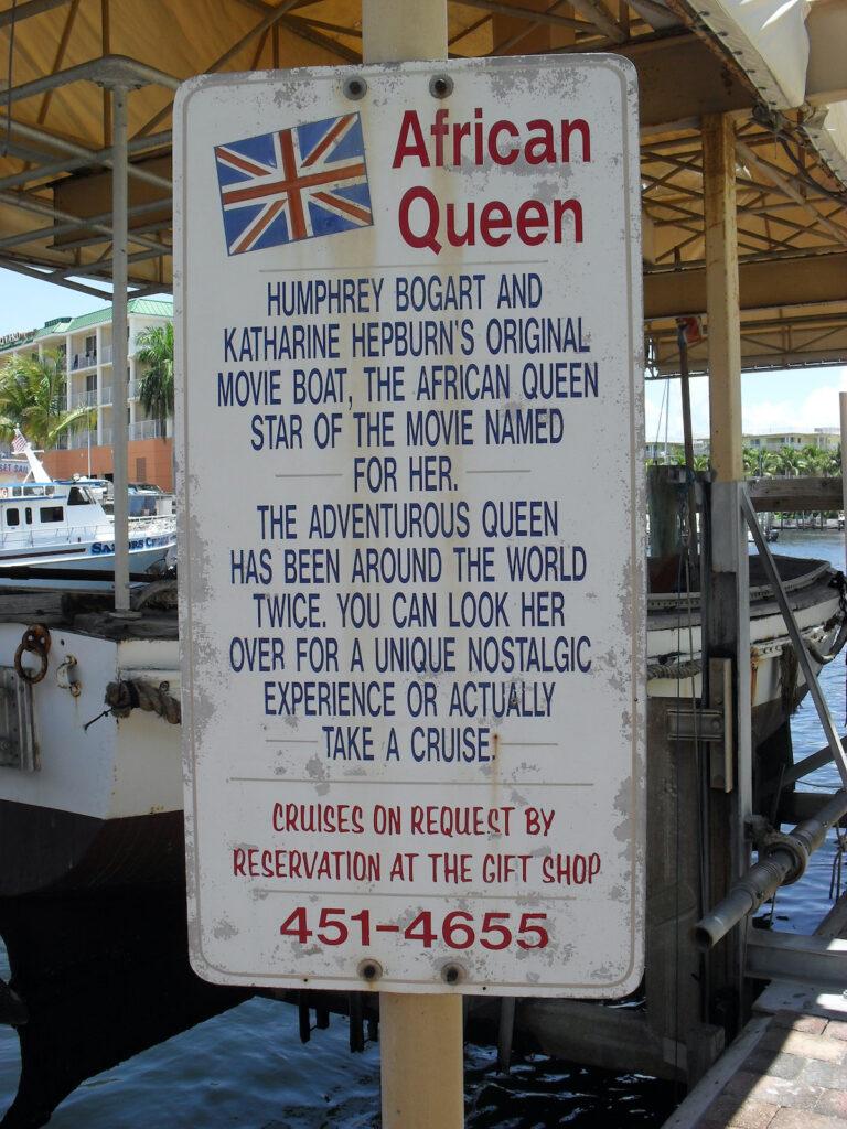 The African Queen in Key Largo.