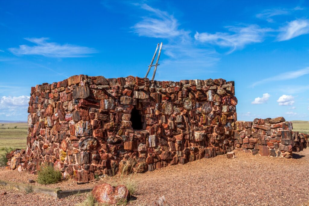 The Agate House in the Petrified Forest.