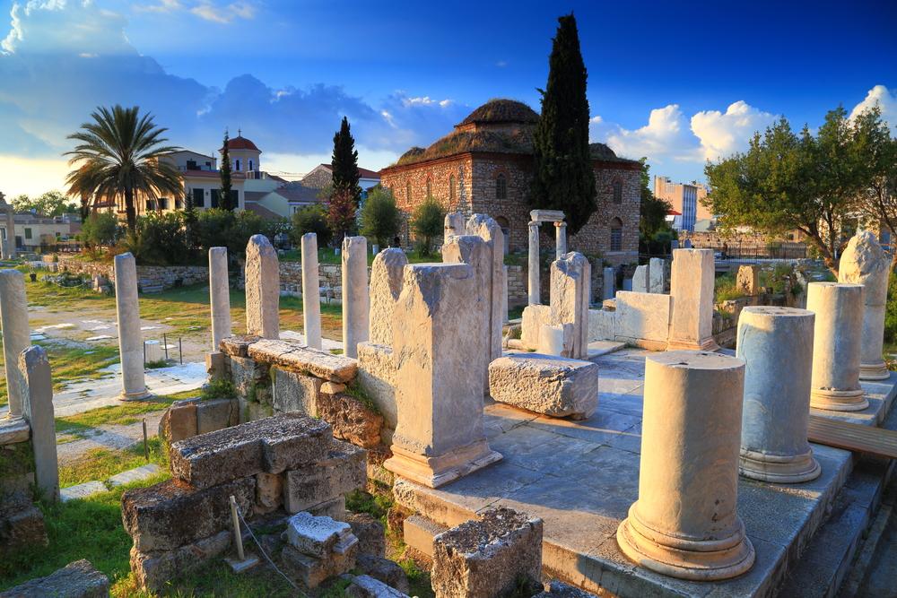 The Agora in Athens, Greece