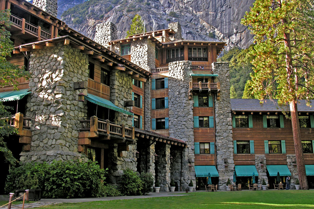 The Ahwahnee Hotel in Yosemite National Park.
