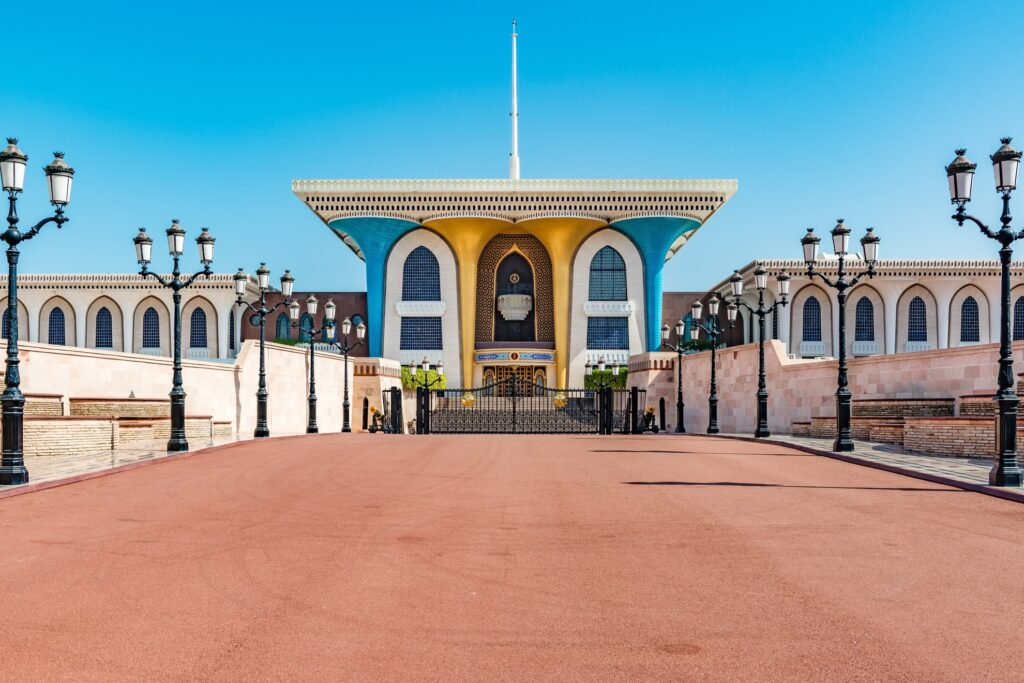 The Al Alam ceremonia palace in Oman.