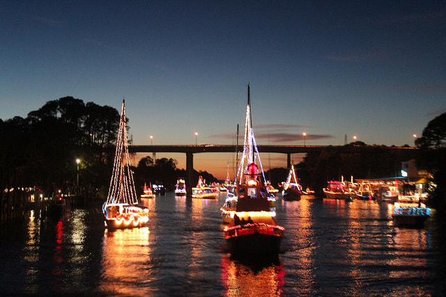 The Alabama Coastal Christmas Boat Parade.