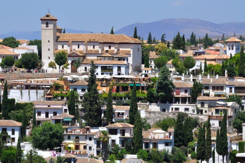 The Albaicin neighborhood in Grenada, Spain.