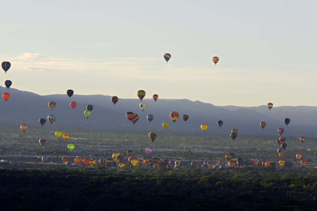 The Albuquerque Balloon Fiesta in New Mexico.