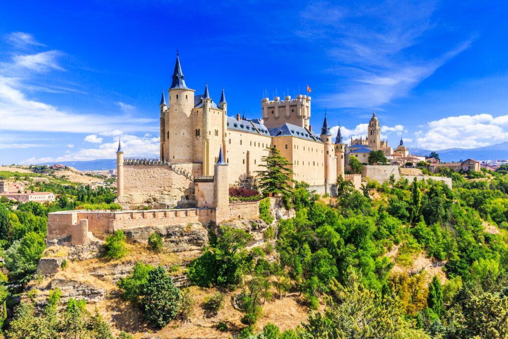 The Alcazar De Segovia in Spain.