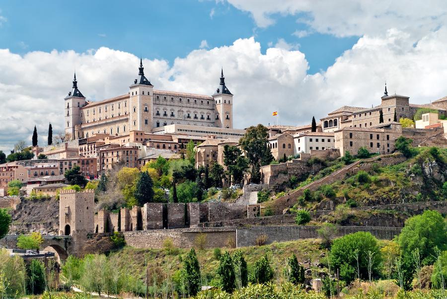 The Alcazar fortress in Toledo, Spain.