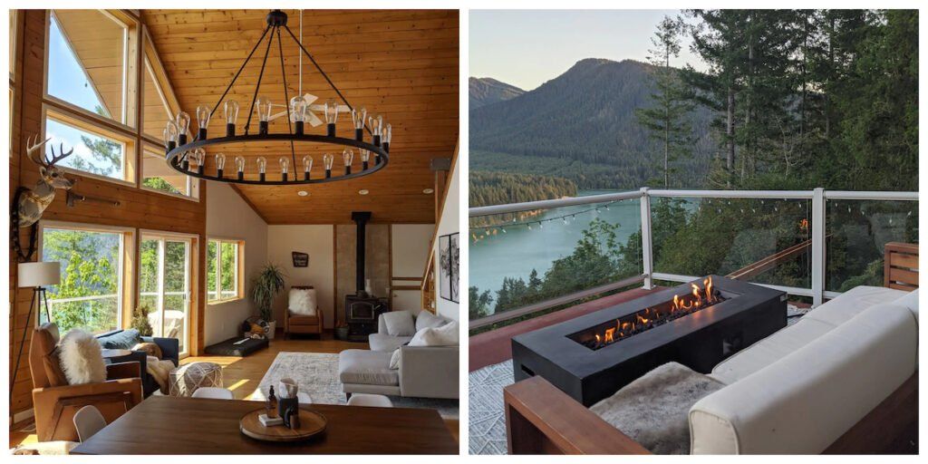 The Alder Lake Lookout cabin rental in Washington.