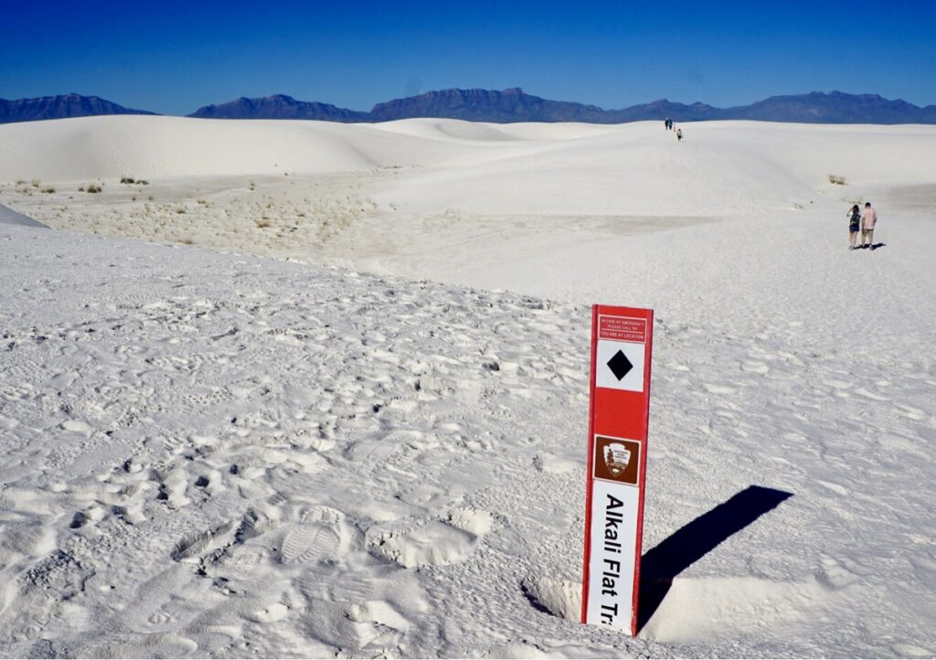 The Alkali Flat Trail at White Sands.