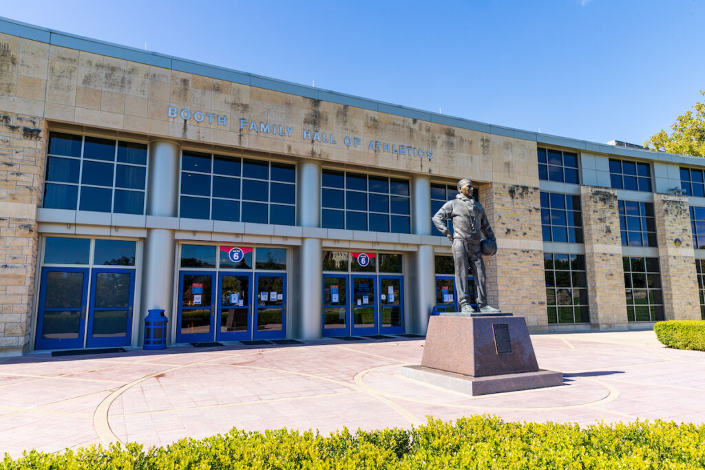 The Allen Fieldhouse and Booth Family Hall Of Athletics.