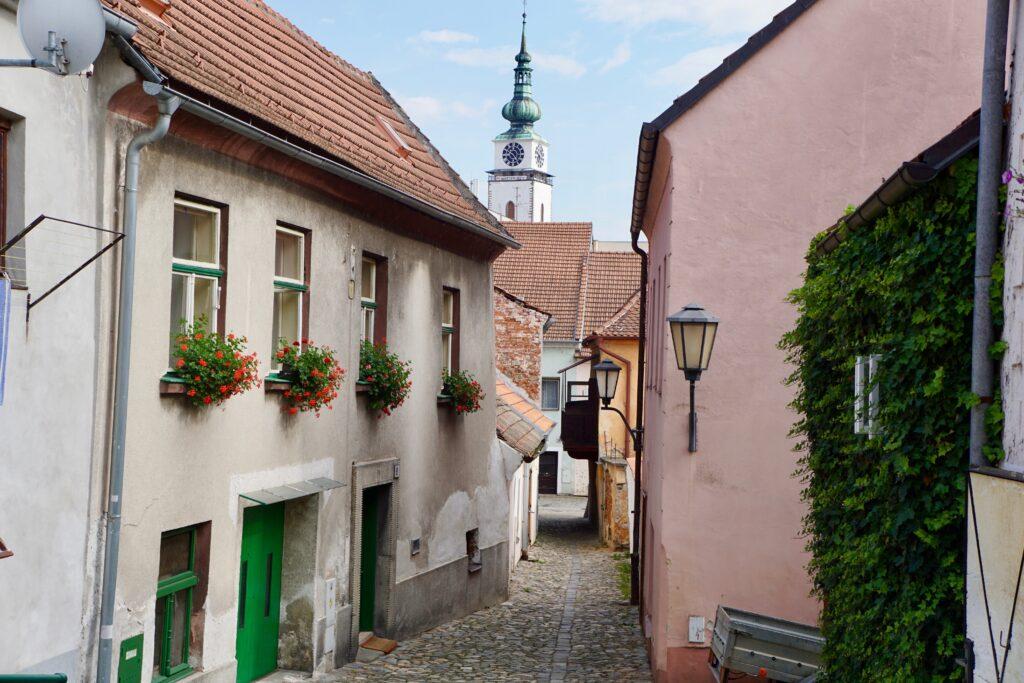 The alleyways of Trebic.