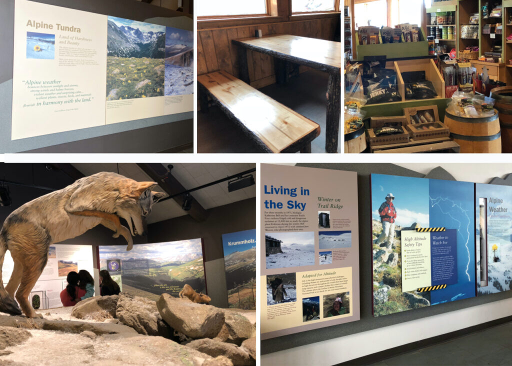 The Alpine Visitor Center in Rocky Mountain National Park.