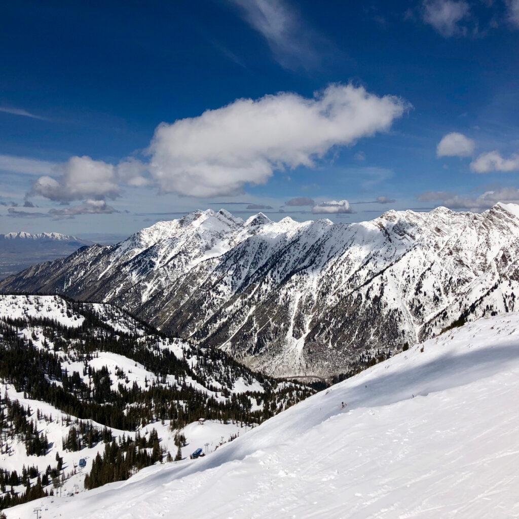 The Alta Ski Area in Utah.