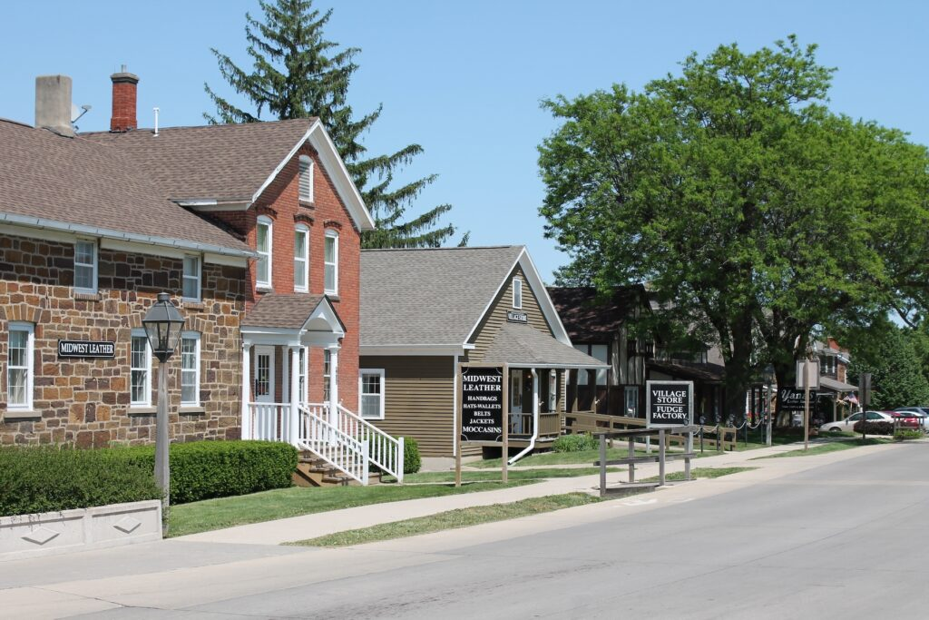 The Amana Colonies in Iowa.