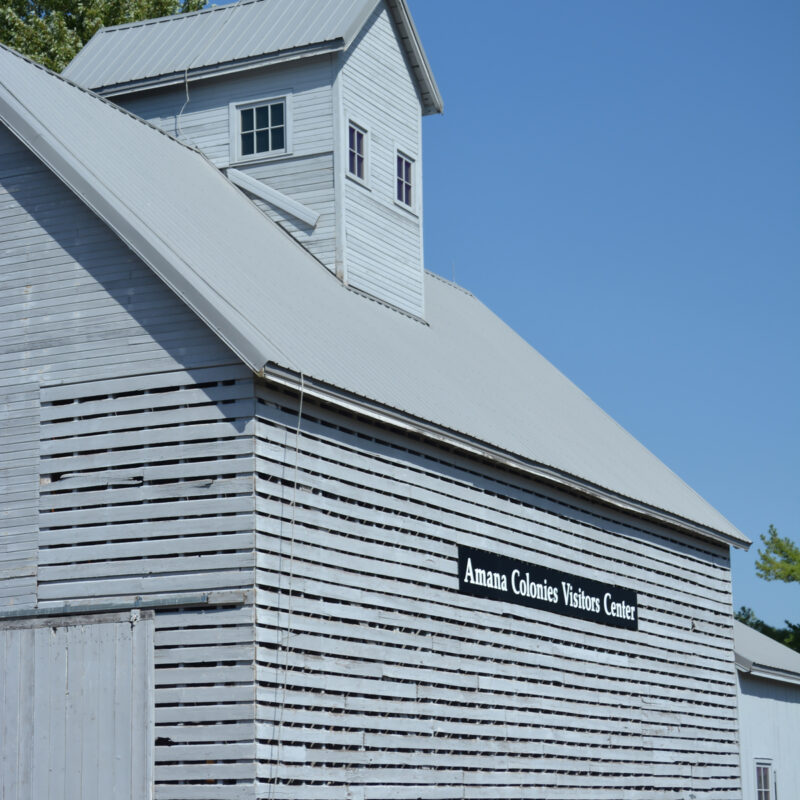 The Amana Colonies Visitor Center in Iowa.