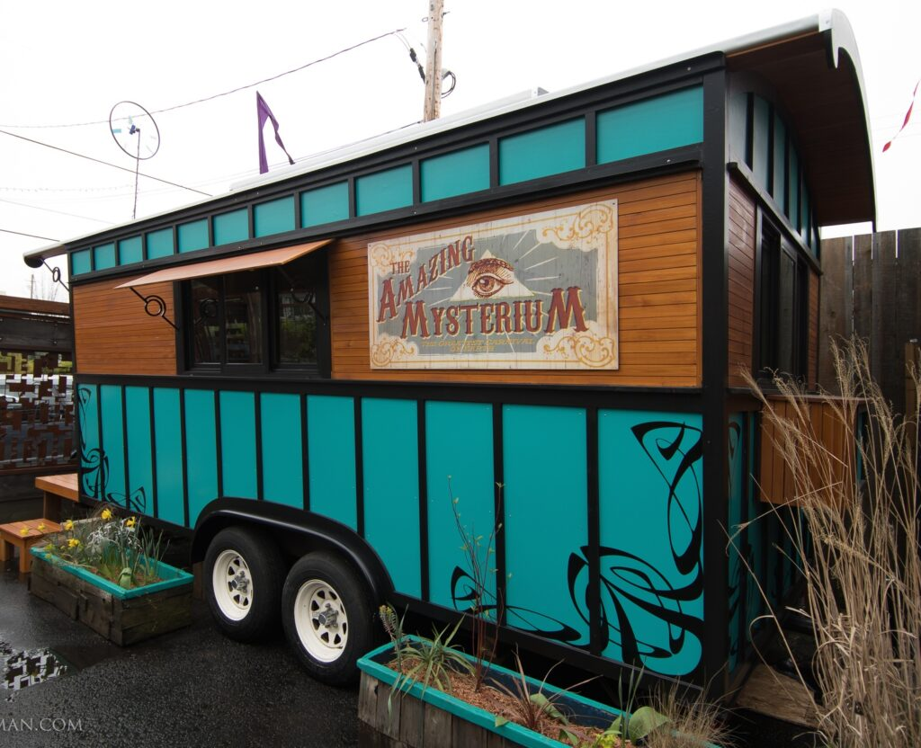 The Amazing Mysterium, Caravan Tiny House Hotel, Portland, OR