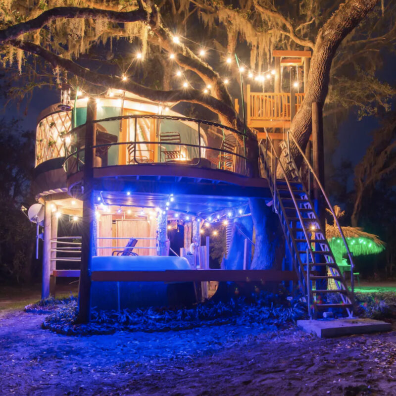 The amazing treehouse Airbnb in Florida.