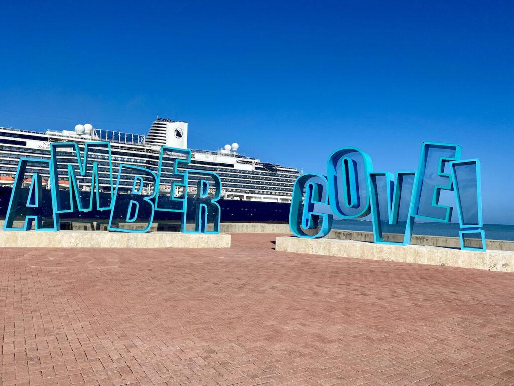 The Amber Cove cruise port.