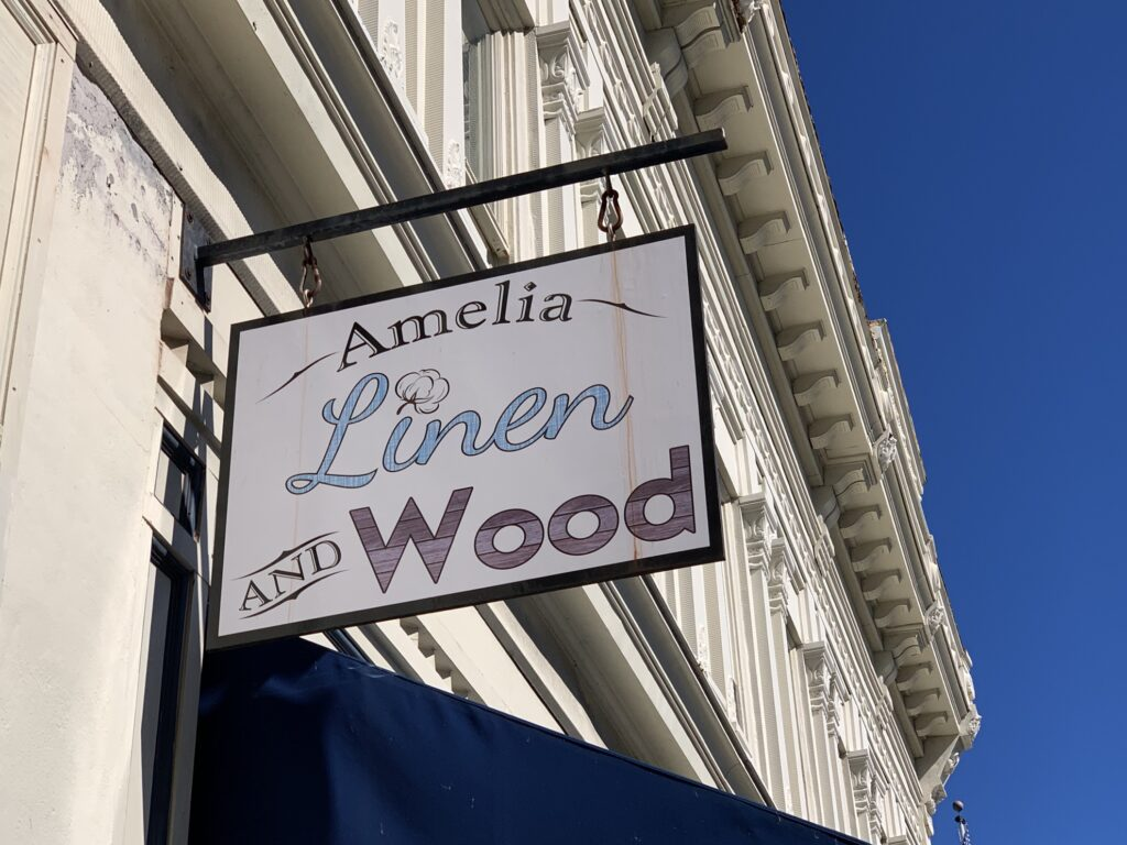 The Amelia Linen and Wood boutique.