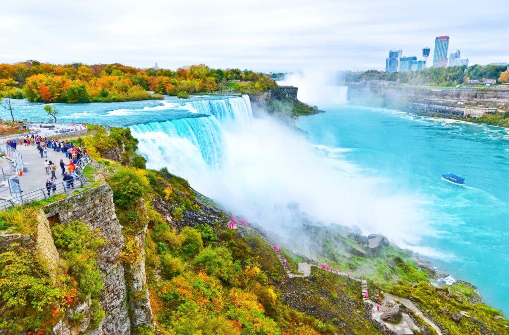 The American side of Niagara Falls.