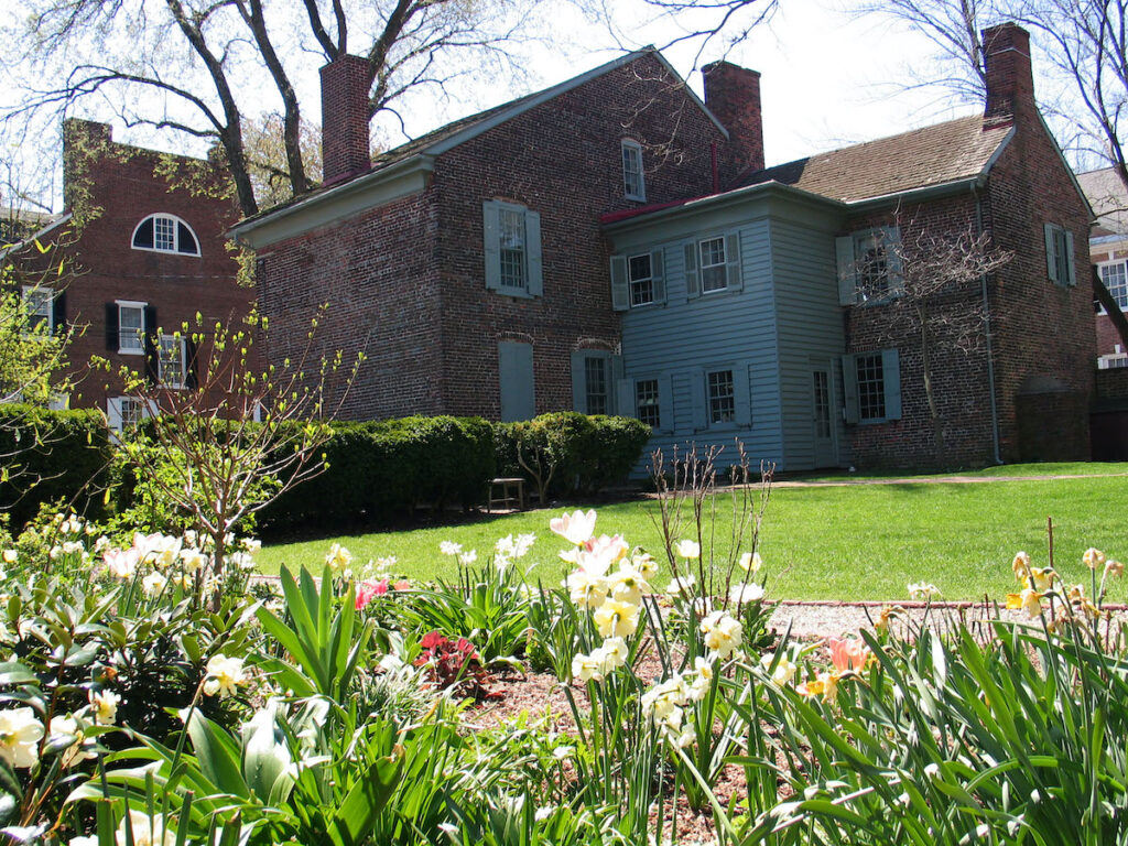 The Amstel House garden.