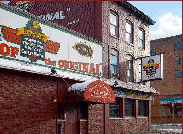 The Anchor Bar in Buffalo, New York.