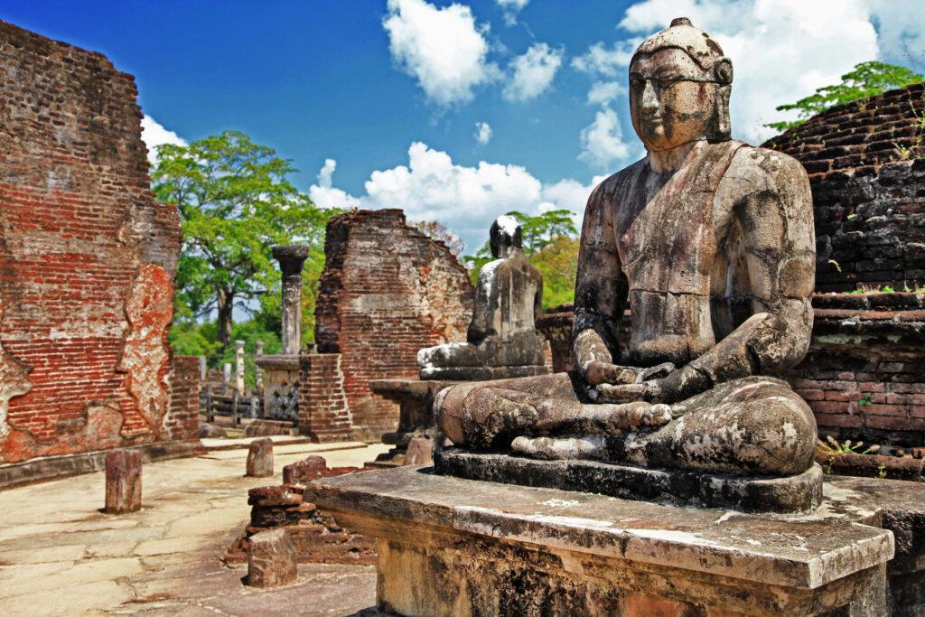 The ancient city of Polonnaruwa in Sri Lanka.