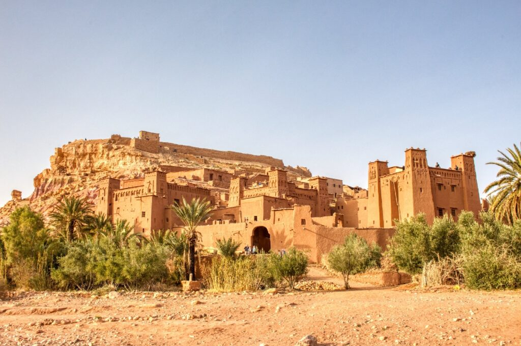 The ancient town of Ait Benhaddou in Morocco.