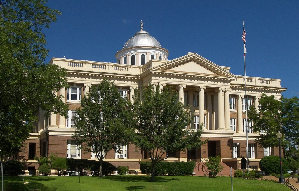 The Anderson County Courthouse in Palestine, Texas.