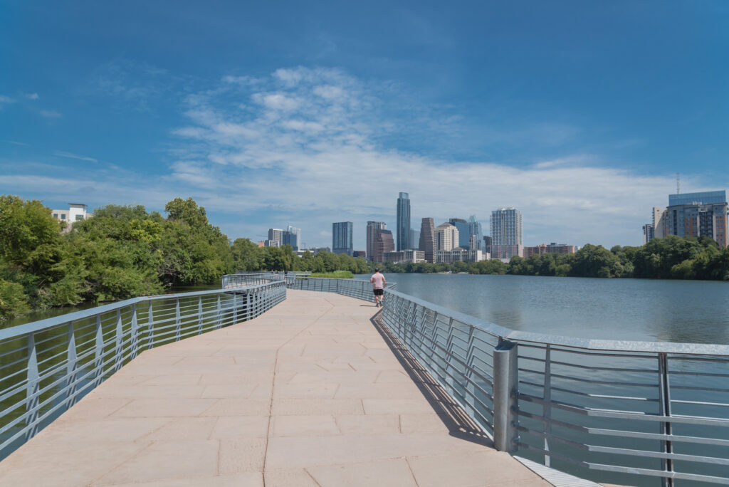 The Ann And Roy Butler Hike-And-Bike Trail in Austin, Texas.