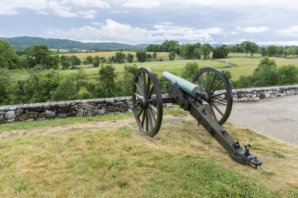 The Antietam National Battlefield in Maryland.