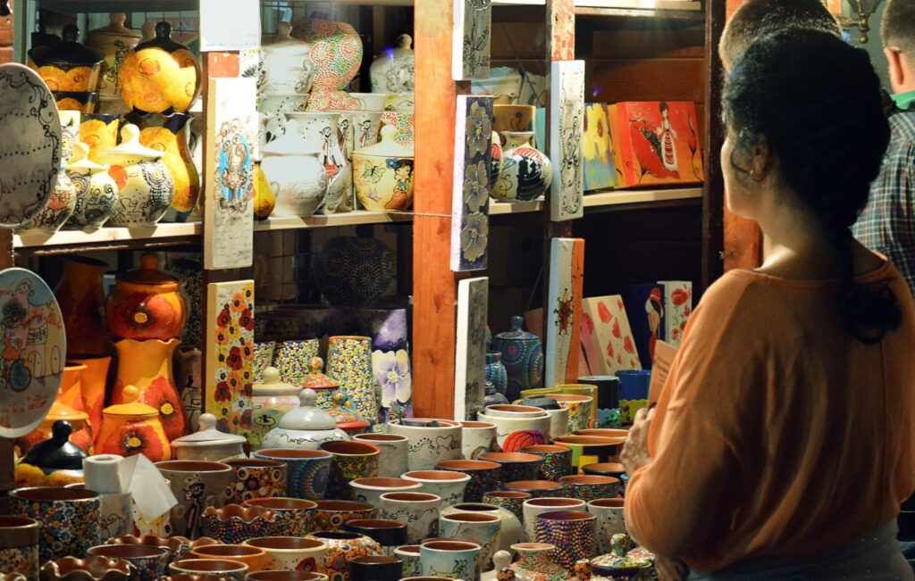 The Antiquities Collectors Market in Bucharest.