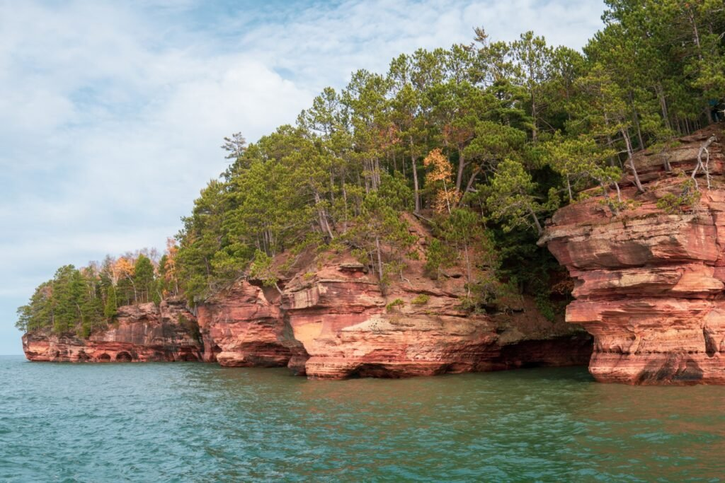 The Apostle Islands in warmer weather.