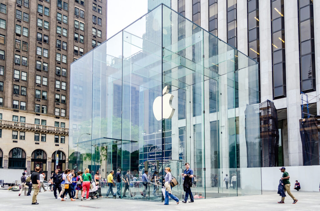 The Apple Store on Fifth Avenue in New York City.