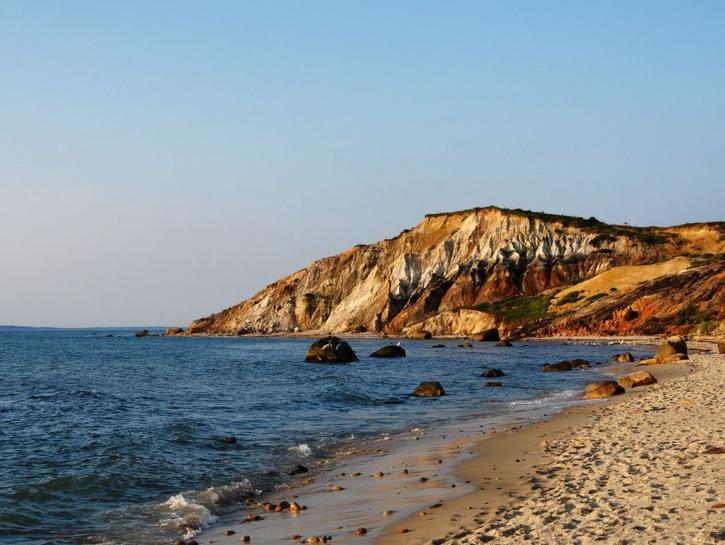 The Aquinnah Cliffs seen from the beach, Martha's Vineyard