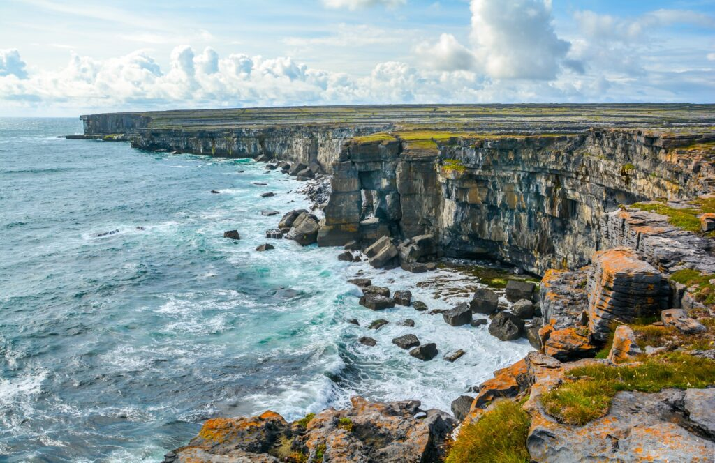 The Aran Islands near Galway, Ireland.