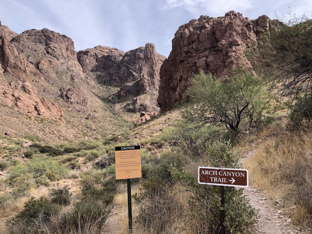 The Arch Canyon Trail at Organ Pipe Cactus National Monument.