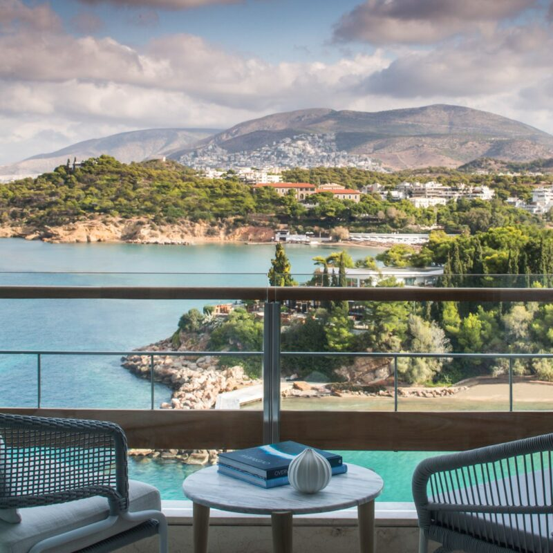 The Arion Sea View room at the Four Seasons Athens hotel.