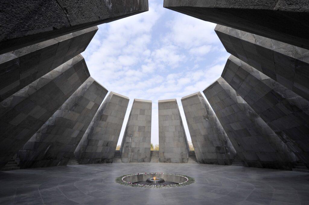 The Armenian Genocide Memorial in Yerevan.
