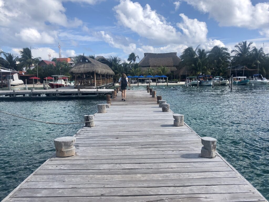 The arrival pier on Isla Mujeres.